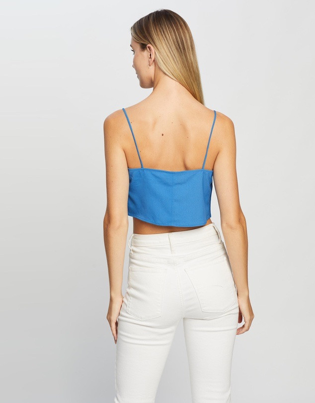 #Cropped camisole: