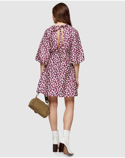 #Puff mini dress: