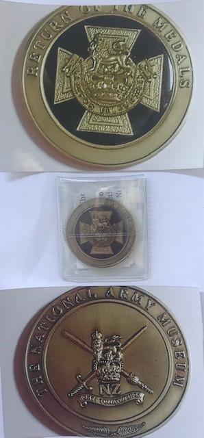 Stamps & Book + replica medal